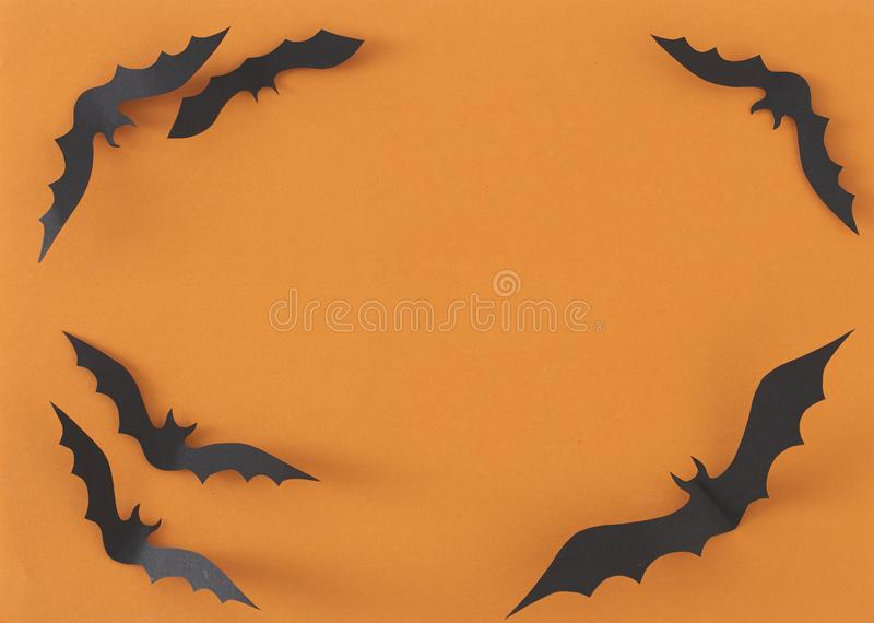 Halloween greeting card design royalty free stock photo