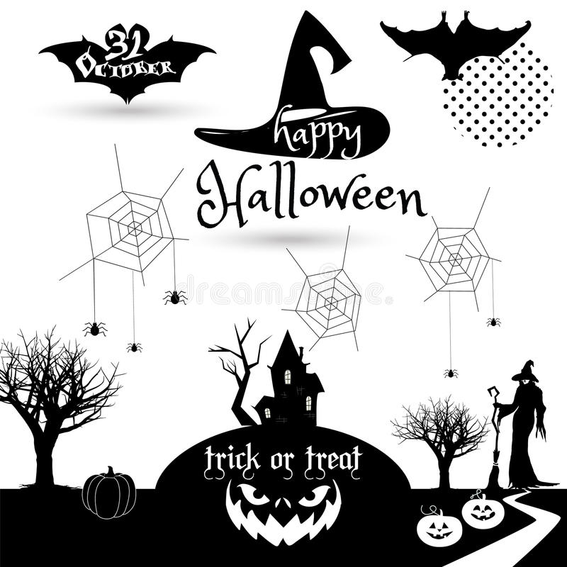 Halloween Stock Vector Illustration Of Border Calligraphy 79423316