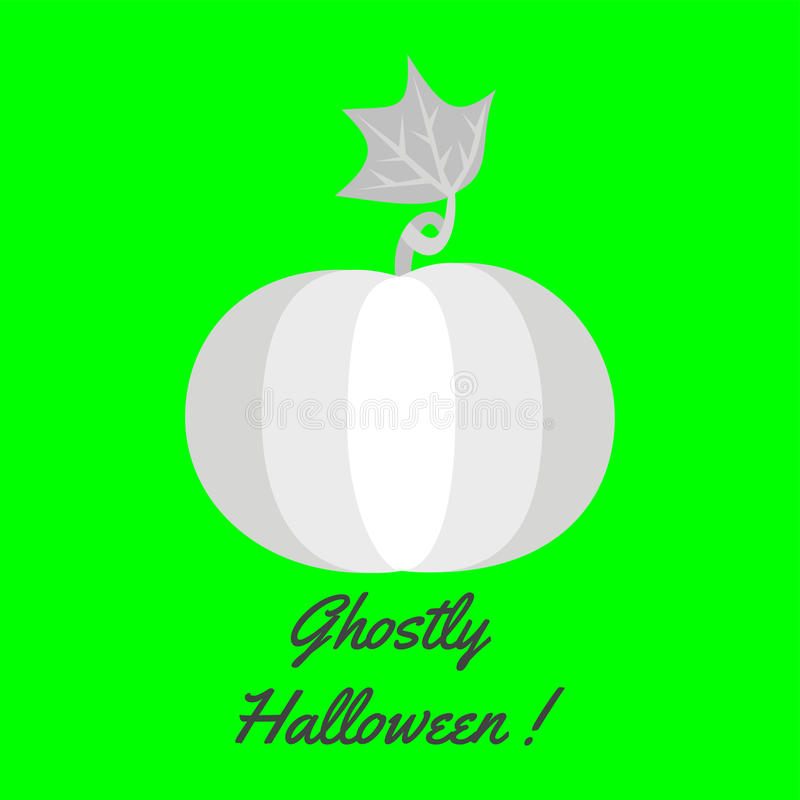 Halloween greeting card template with pumpkin royalty free stock image
