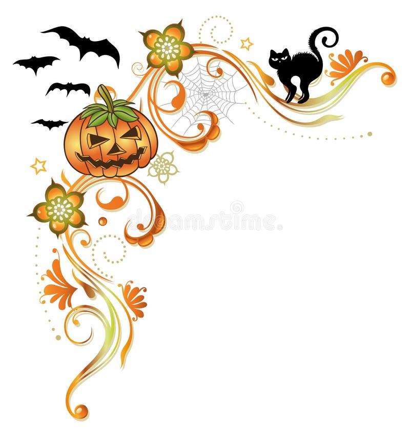 Halloween-grens stock illustratie