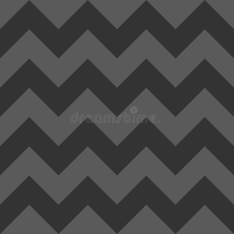 Halloween Grey and Black Horizontal Geometric Zigzag Seamless Pattern vector illustration
