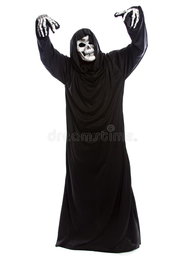 Halloween Grim Reaper on a White Background royalty free stock images