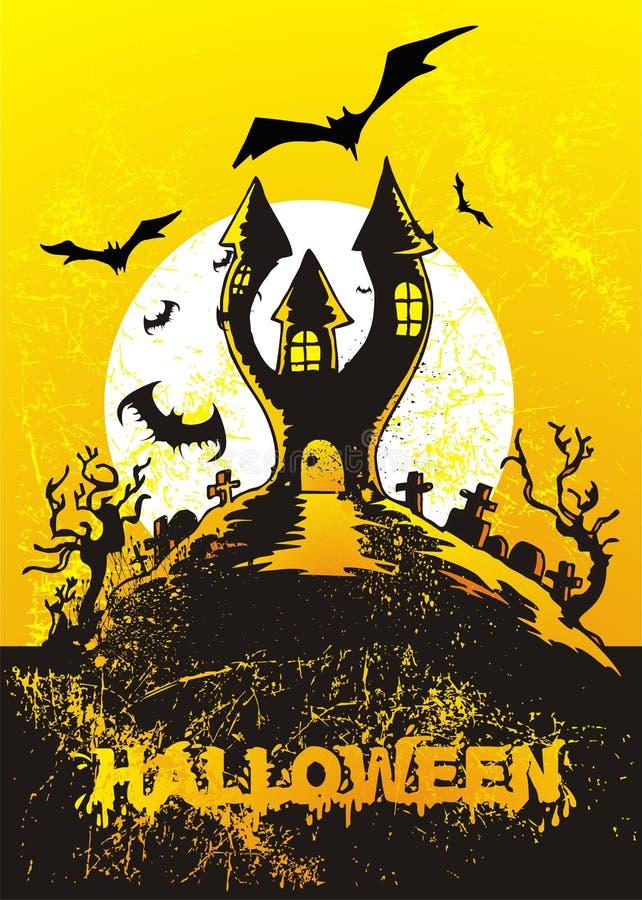halloween grodowa ilustracja ilustracji