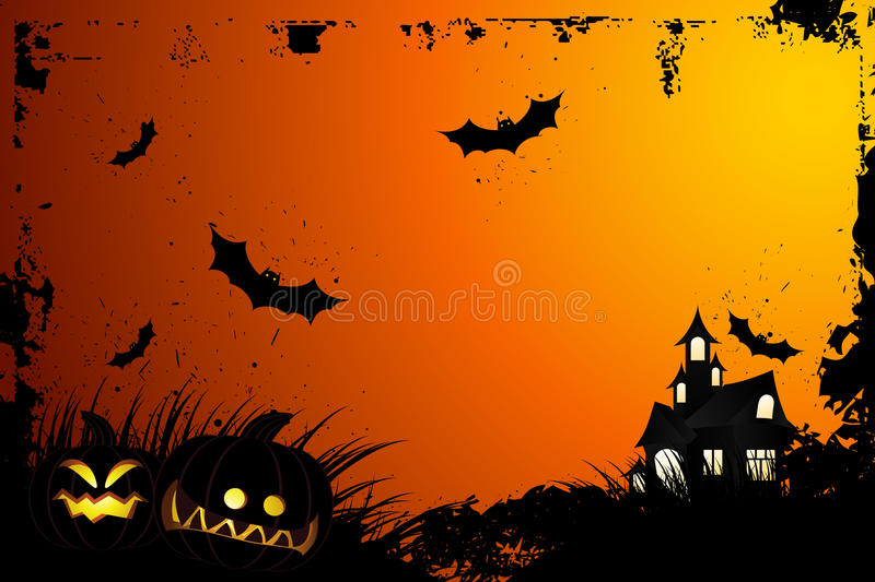 Halloween grunge background vector illustration