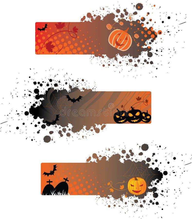 Halloween grunge Fahnen lizenzfreie abbildung
