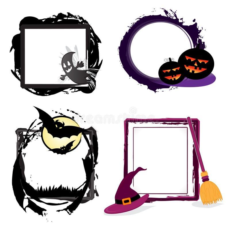 Halloween grunge frames royalty free stock photo