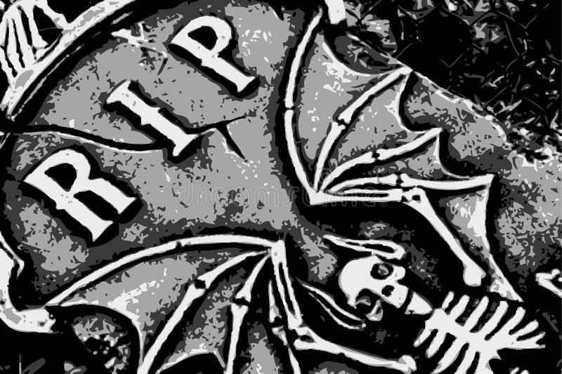 Halloween grunge RIP-Hieb lizenzfreie abbildung