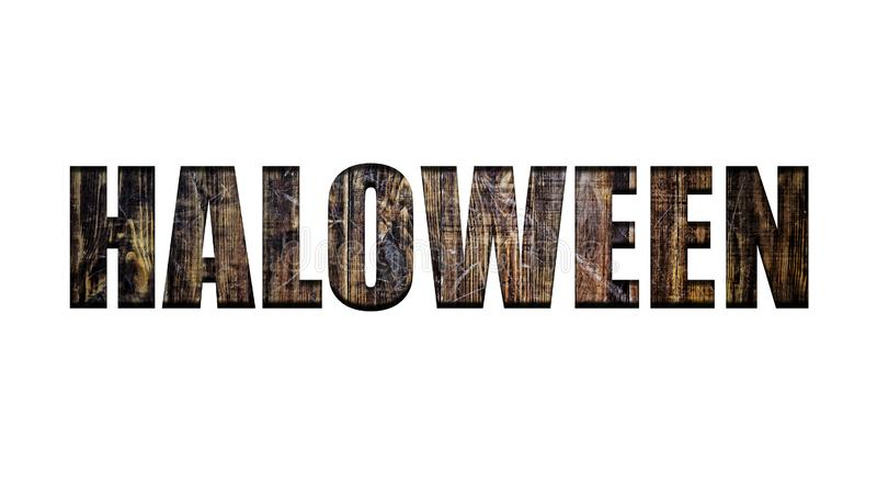 Halloween, Guss, Werbung, Einladung, Karneval, Partei, Feier, Feiertag, Transparenz, hölzerne Bretter, leerer Entwurf stockbilder