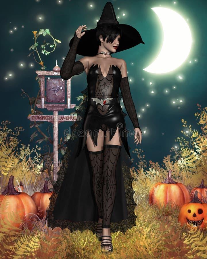 halloween häxa vektor illustrationer