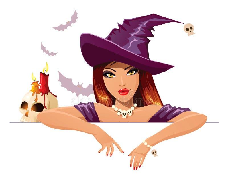 halloween häxa stock illustrationer