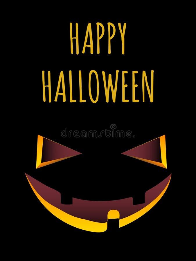 Halloween hace frente ilustración del vector
