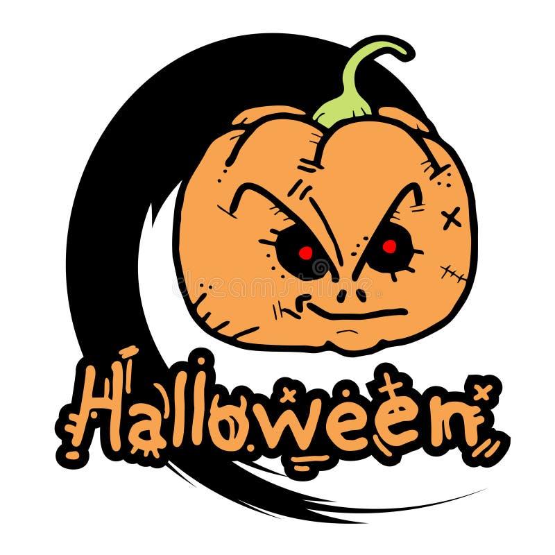 Halloween hace frente a miedo libre illustration