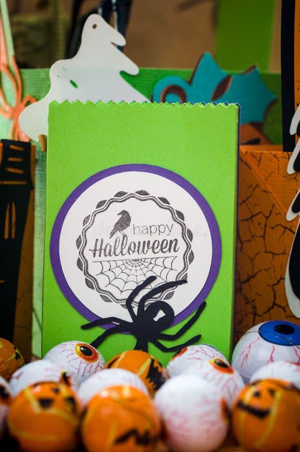Halloween - Halloween-Ambachten - Document het Bewerken royalty-vrije stock afbeeldingen