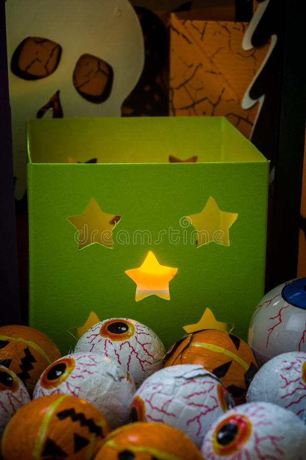 Halloween - Halloween-Ambachten - Document het Bewerken stock afbeelding