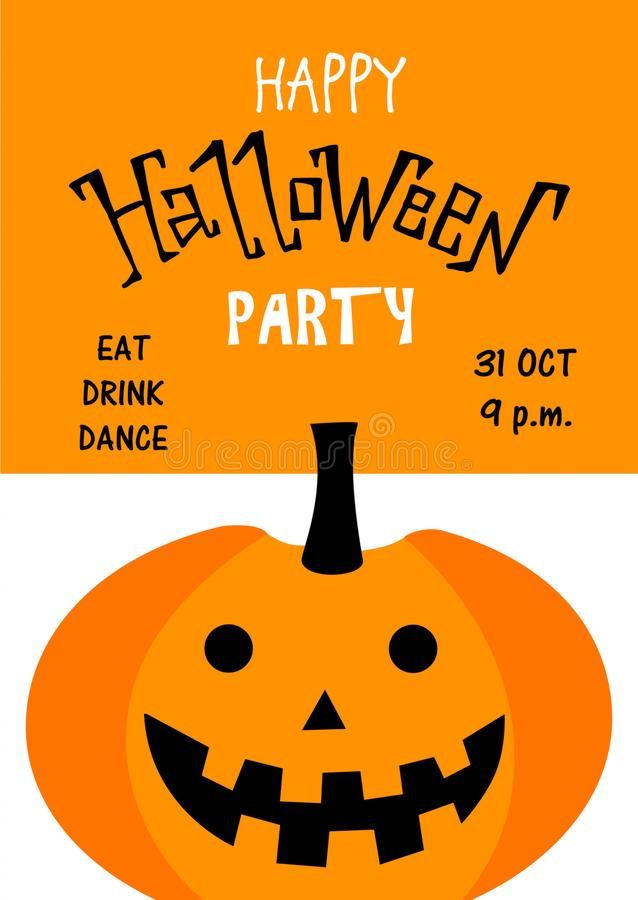 Halloween. Hand drawn lettering and illustration. Vector illustration. Best banner for Halloween party royalty free illustration