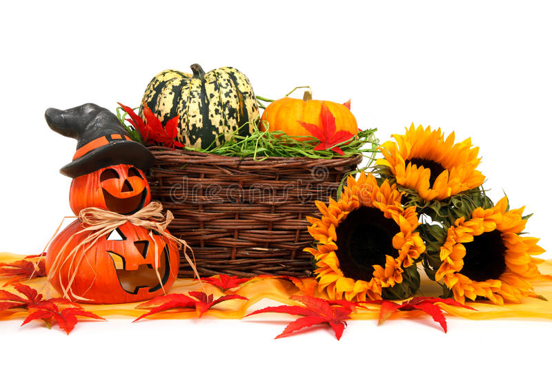 Halloween harvest decoration stock image