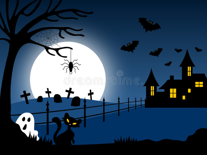 Halloween Haunted House [1] royalty free illustration