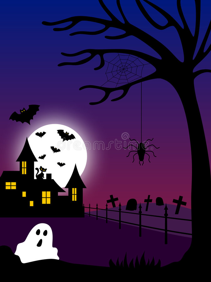 Halloween Haunted House [2] royalty free illustration