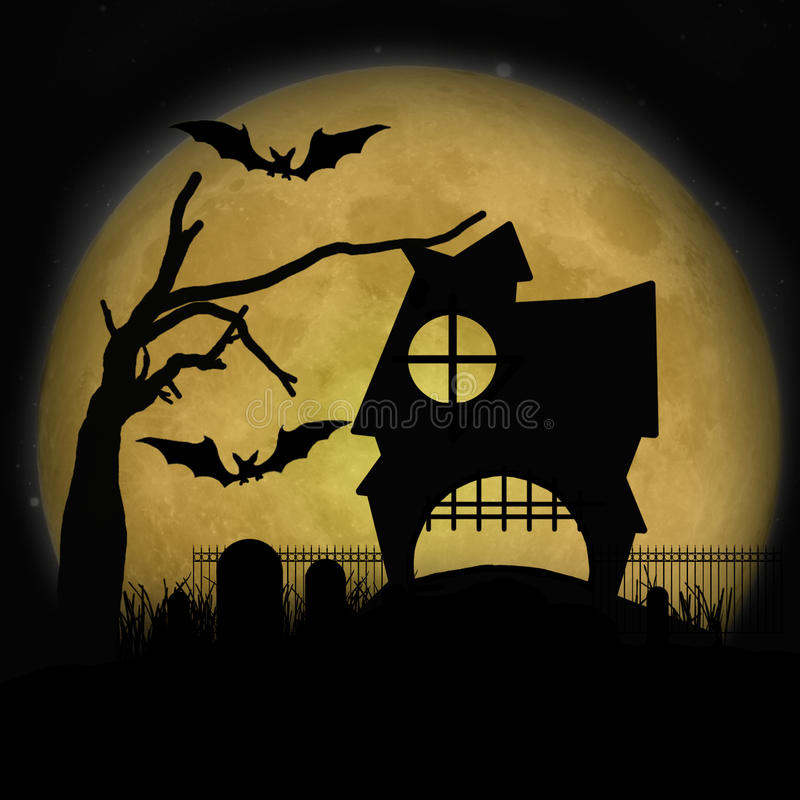 Download Halloween Haunted House stock illustration. Image of autumn - 21422566