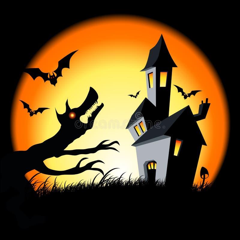 Halloween-Haus stock abbildung