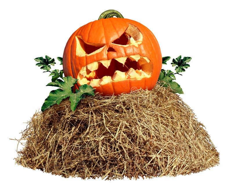 Halloween Hay Pile stockfoto