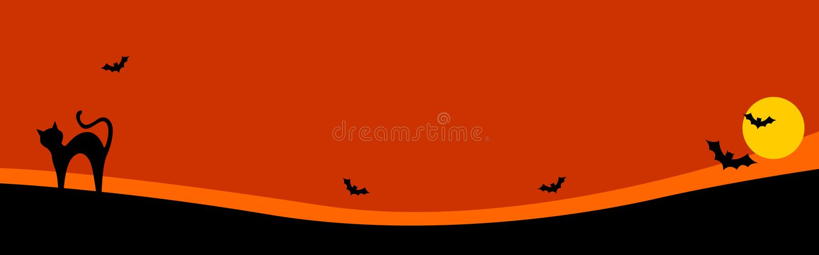 Halloween header / background royalty free stock photography