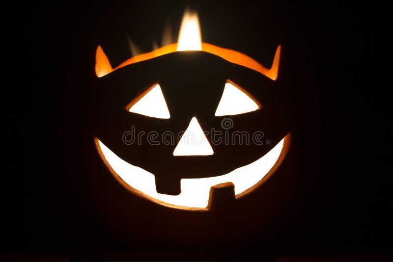 Halloween-hefboom-o-lantaarn stock foto's