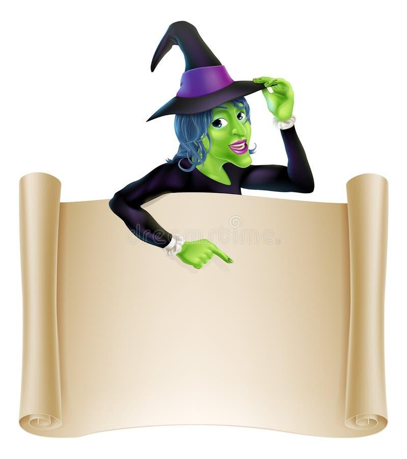 Halloween-Heksenrol royalty-vrije illustratie