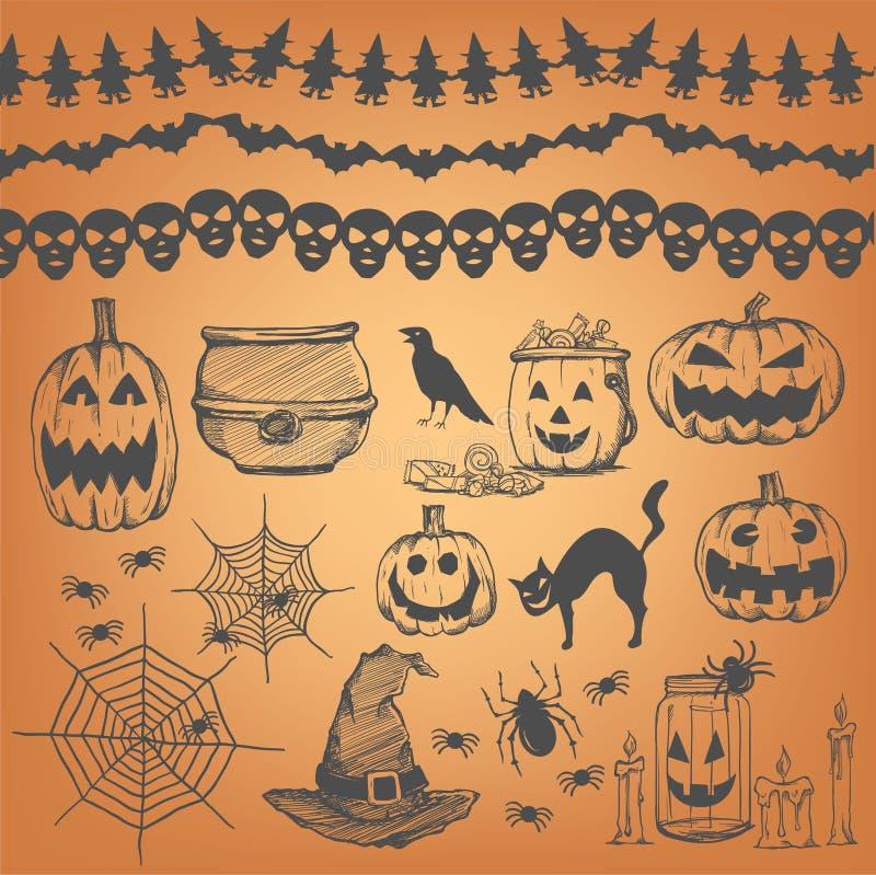 Halloween-het element van het partijontwerp royalty-vrije illustratie