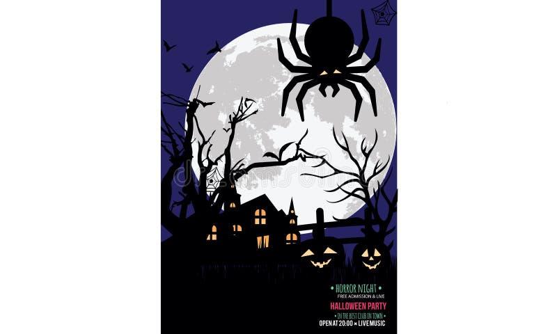 Halloween-het kenteken van de partijuitnodiging stock illustratie