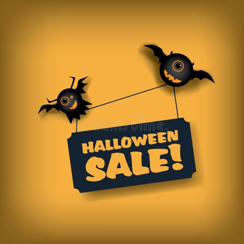 Halloween-het malplaatje van de verkoopaffiche Speciale aanbieding royalty-vrije illustratie