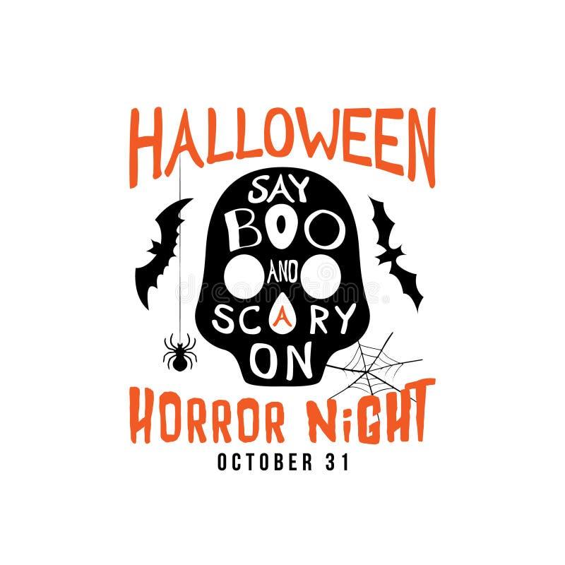Halloween-het Ontwerp van de Partijvlieger vector illustratie