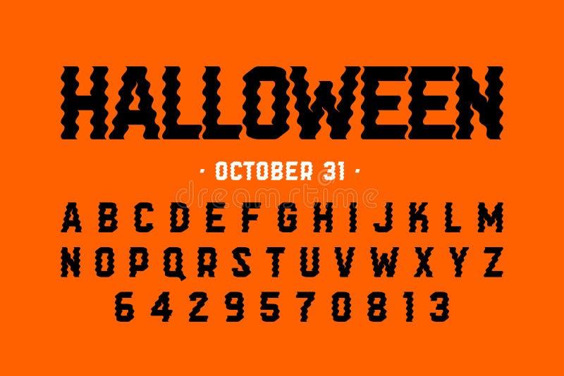 Halloween-het ontwerp van de stijldoopvont royalty-vrije illustratie