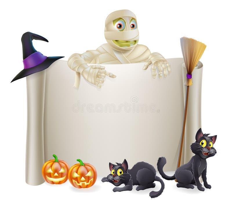 Halloween-het Teken van de Brijrol vector illustratie
