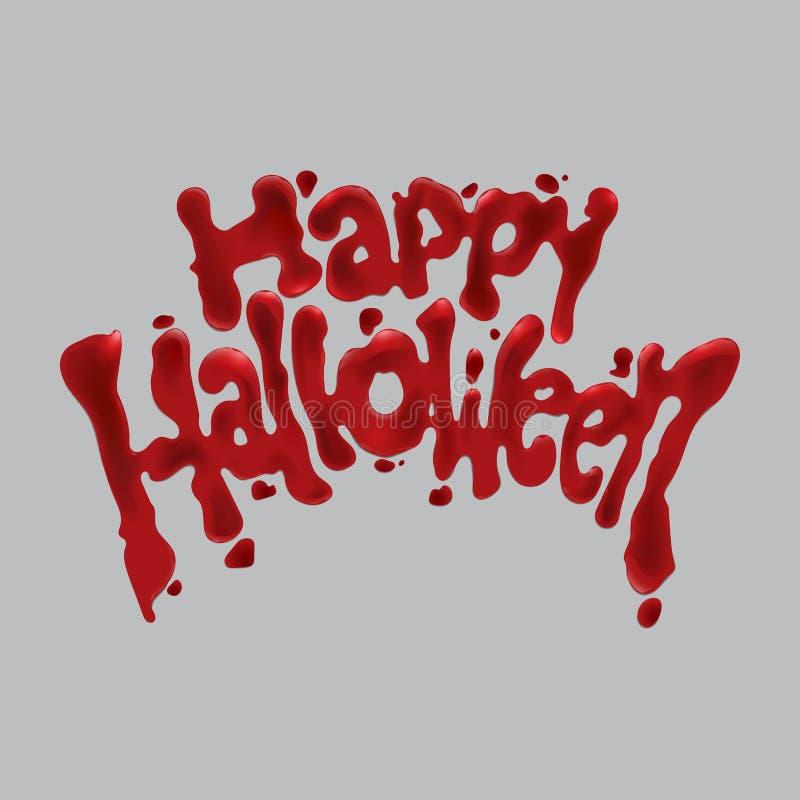 Halloween heureux ensanglanté illustration stock