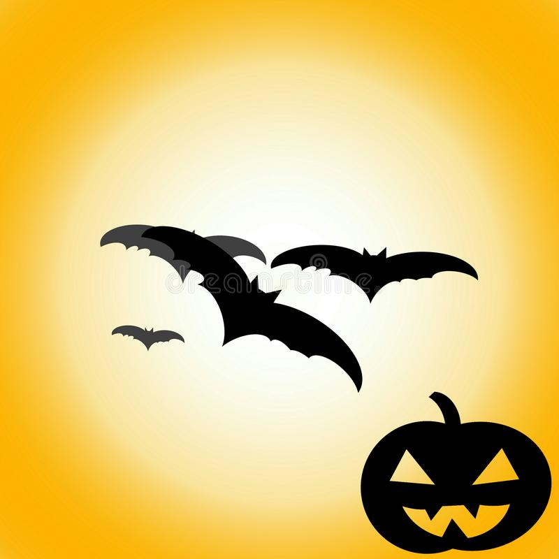 Halloween heureux, jour de Halloween illustration stock