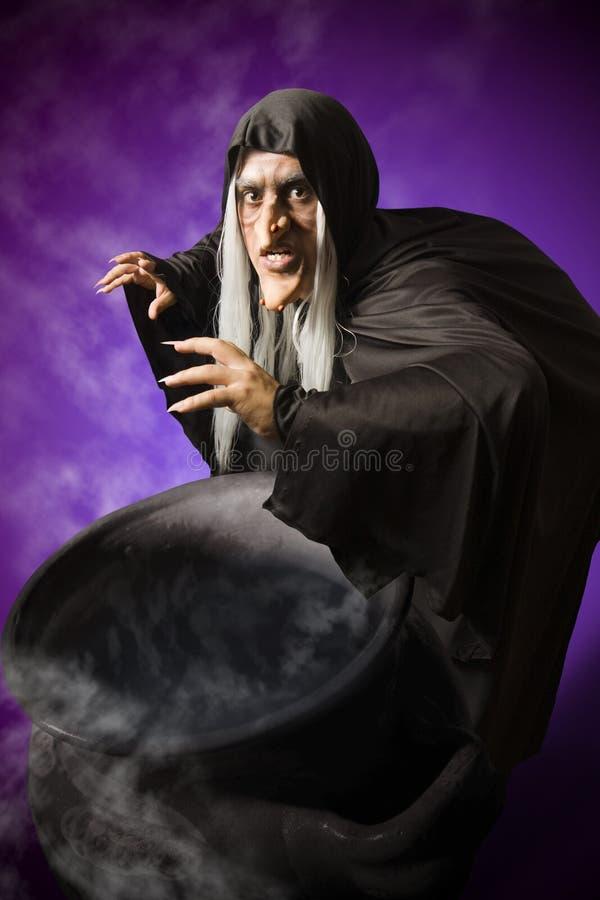 Halloween-Hexe lizenzfreies stockbild