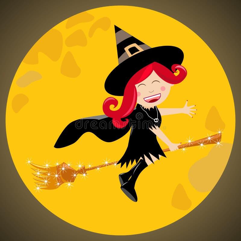Halloween-Hexe [2] lizenzfreie abbildung