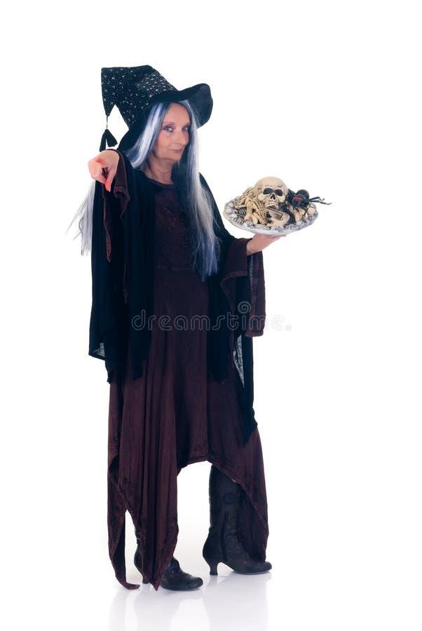 Halloween-Hexe lizenzfreie stockfotos