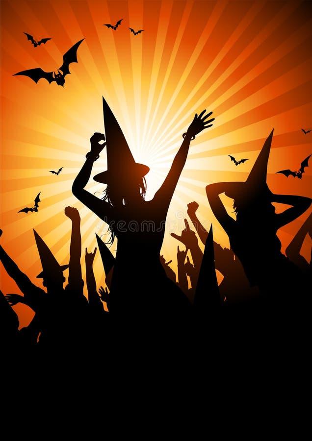 Halloween-Hexe-Party lizenzfreie abbildung