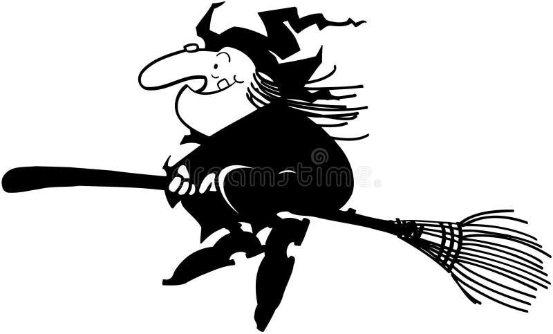 Halloween-Hexen-Karikatur-Design-Vektor Clipart lizenzfreie abbildung