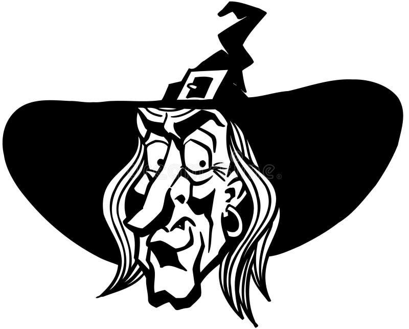 Halloween-Hexen-Karikatur-Design-Vektor Clipart vektor abbildung
