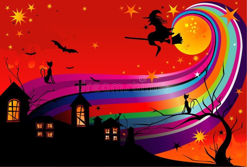 Halloween-Hexevektor lizenzfreie abbildung