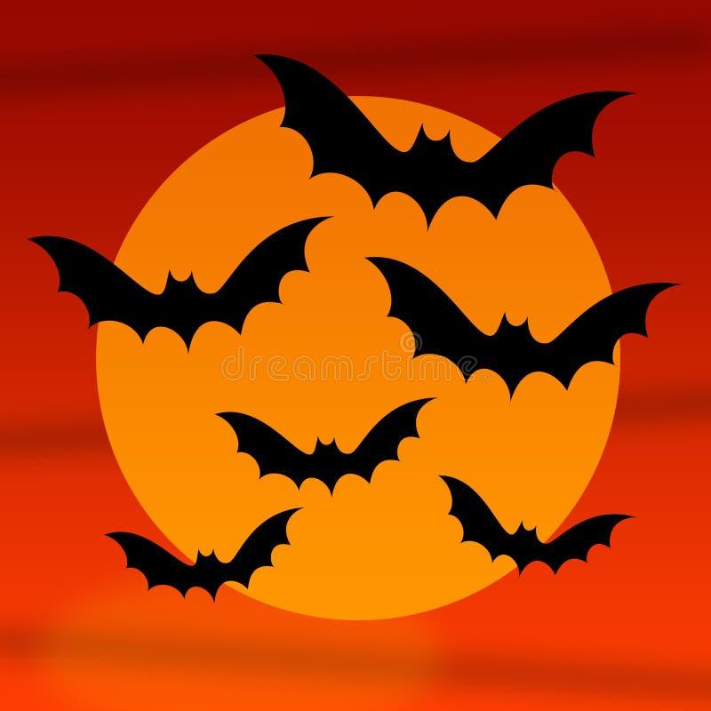 Halloween-Hiebe stock abbildung
