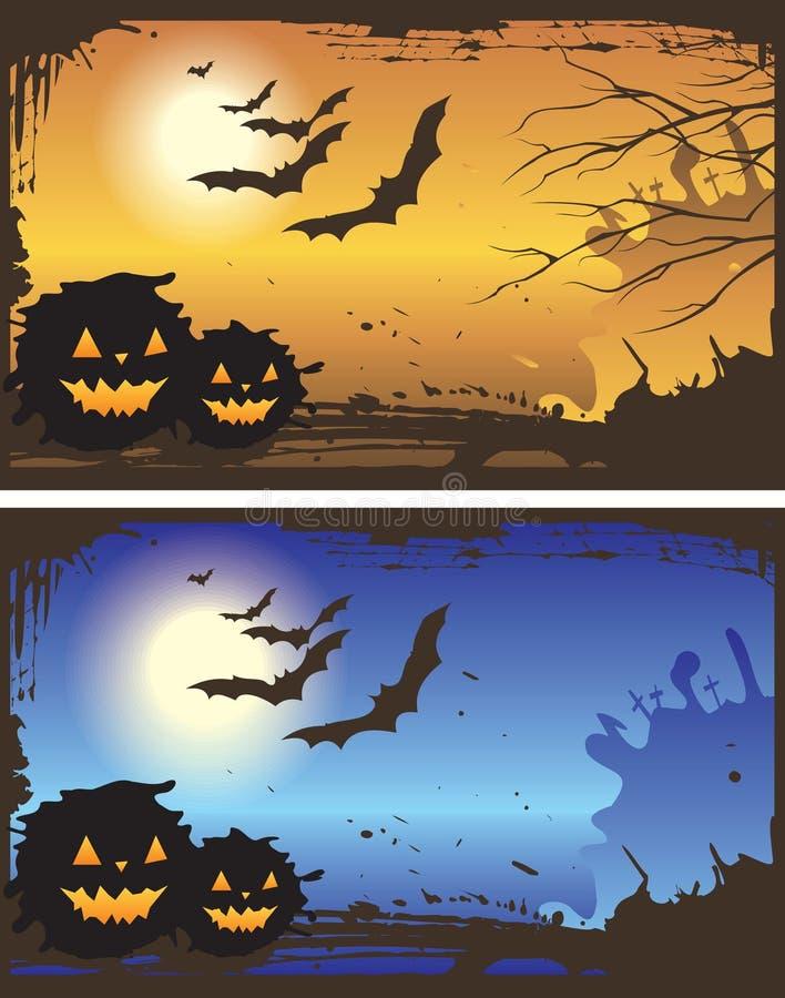Halloween-Hintergründe vektor abbildung
