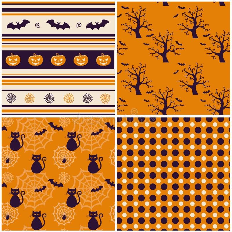 Halloween-Hintergründe. Vektorillustration. stock abbildung