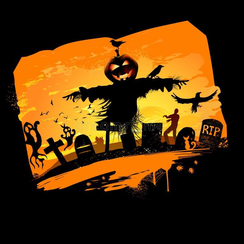 Halloween-Hintergrund stock abbildung