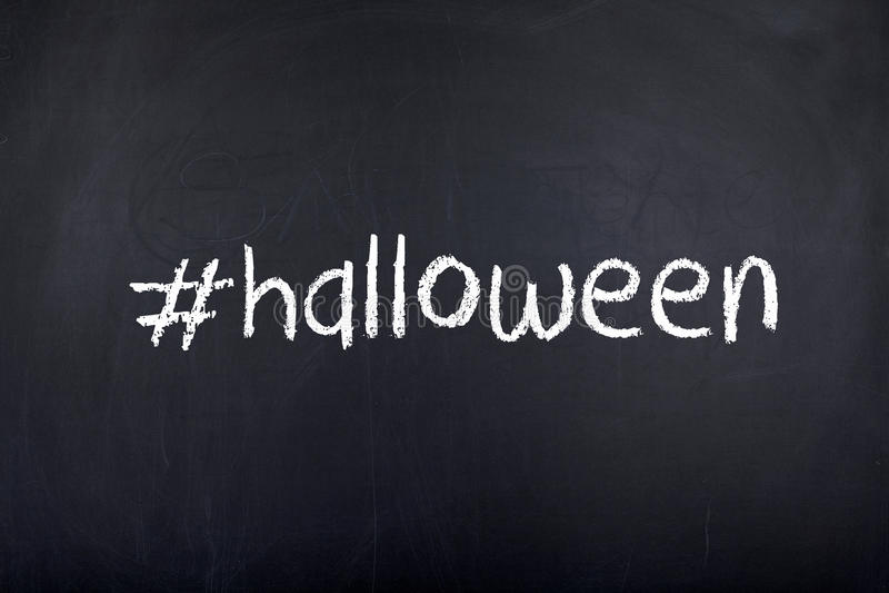 Halloween-Hintergrund-Konzept-Wort stockfoto