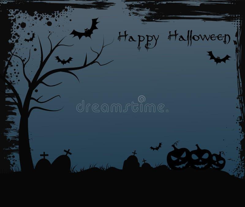 Halloween-Hintergrund mit Baum lizenzfreie abbildung