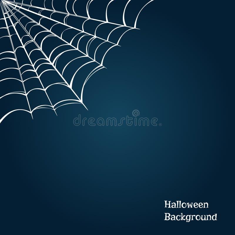 Halloween-Hintergrund mit einem Spinnennetz in der Ecke Auch im corel abgehobenen Betrag vektor abbildung